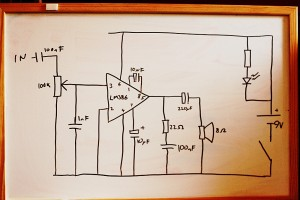 LM386 audio amp circuit